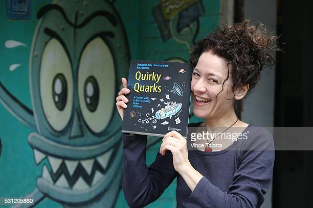 Rina Piccolo Toronto cartoonist poses with her latest project Quirky Quarks A Cartoon Guide to the Fascinating Realm of Physics book at The...