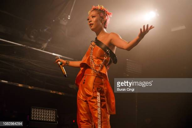 Rina Sawayama performs live on stage at Heaven on October 19 2018 in London England