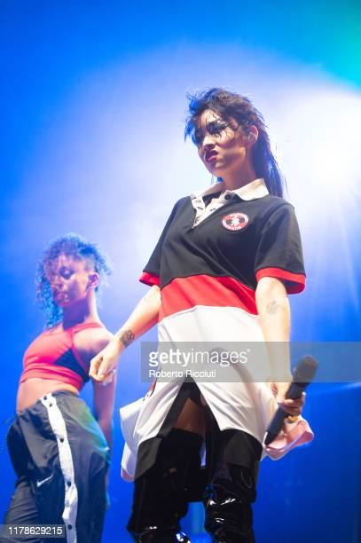 Rina Sawayama performs on stage at SWG3 on October 27, 2019 in Glasgow, United Kingdom.