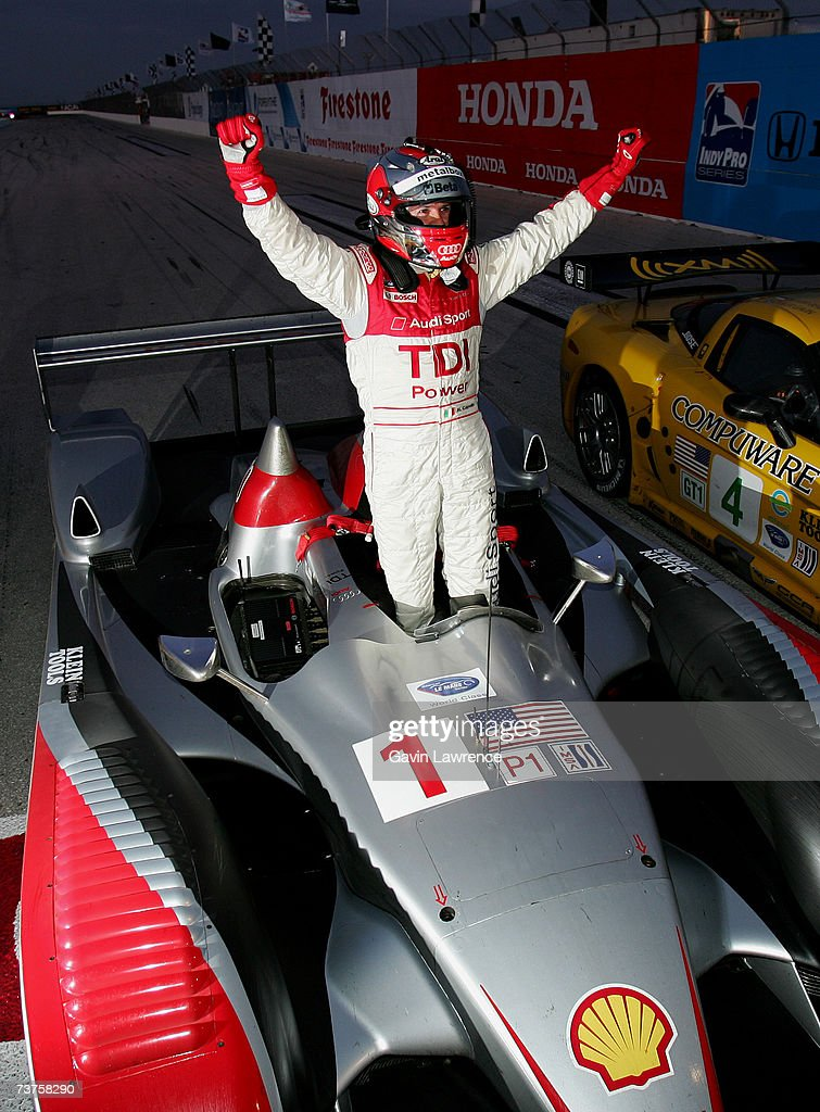 Rinaldo Capello Driving The #1 Audi Sport North America Audi AG R10 TDI  Celebrates After