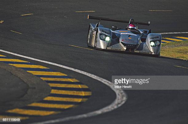 Rinaldo Capello of Italy drives the Audi Sport Team Joest Audi R8 Audi V8 during the ACO European Le Mans Series 24 Hours of Le Mans on 17 June 2000...