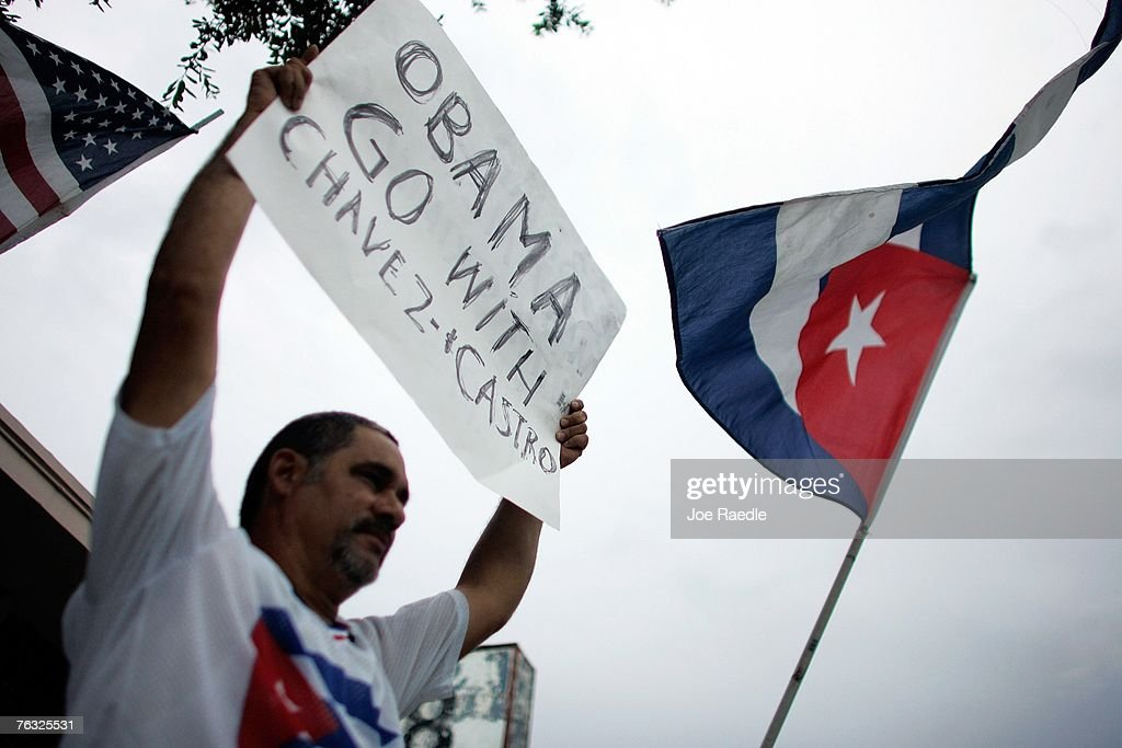 Obama Campaigns In Miami : News Photo