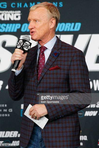 Ring announcer Jimmy Lennon Jr at todays weighin at the Barclays Center for the Showtime Championship boxing card on November 03 2017 at Barclays...
