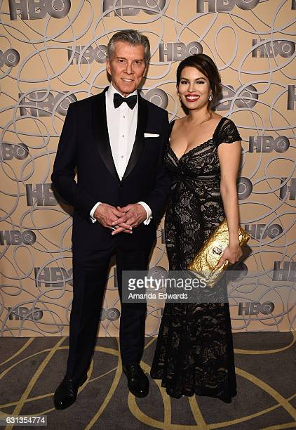 Ring announcer Michael Buffer and Christine Buffer arrive at HBO's Official Golden Globe Awards After Party at Circa 55 Restaurant on January 8, 2017...