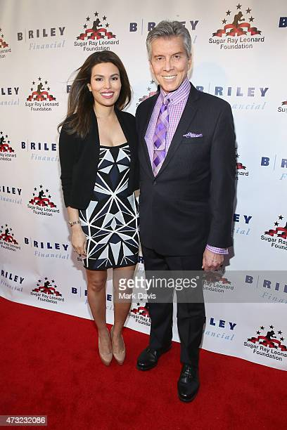 """Ring announcer Michael Buffer and Christine Buffer attend B. Riley & Co. And Sugar Ray Leonard Foundation's 6th Annual """"Big Fighters, Big Cause""""..."""