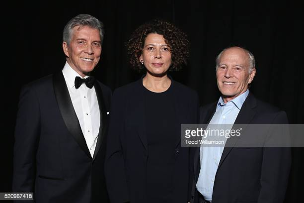 Ring announcer Michael Buffer Universal Pictures Chairman Donna Langley and recipient of the 'International Filmmaker of the Decade' award...