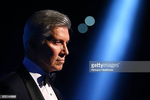 Ring announcer Michael Buffer waits to introduce the fighters before the IBF World Heavyweight title fight between Anthony Joshua and Charles Martin...