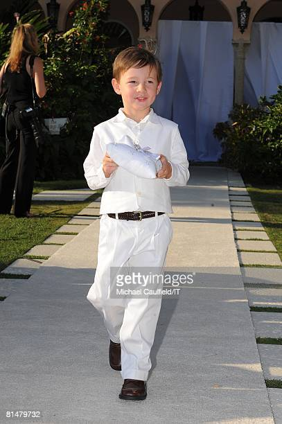 Ring Bearer during the wedding of Ivana Trump and Rossano Rubicondi at the MaraLago Club on April 12 2008 in Palm Beach Florida