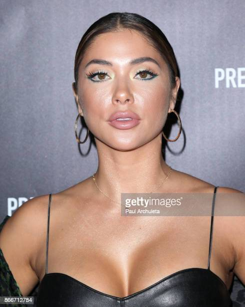 Ring Card Girl Arianny Celeste attends the PrettyLittleThing by Kourtney Kardashian launch party on October 25 2017 in Los Angeles California