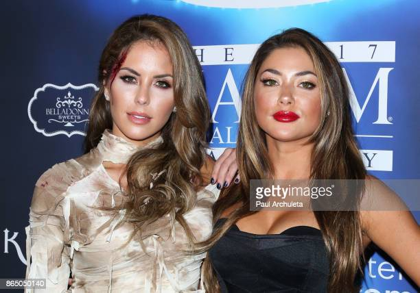 Ring Card Girls Brittney Palmer and Arianny Celeste attend the 2017 Maxim Halloween party at Los Angeles Center Studios on October 21 2017 in Los...