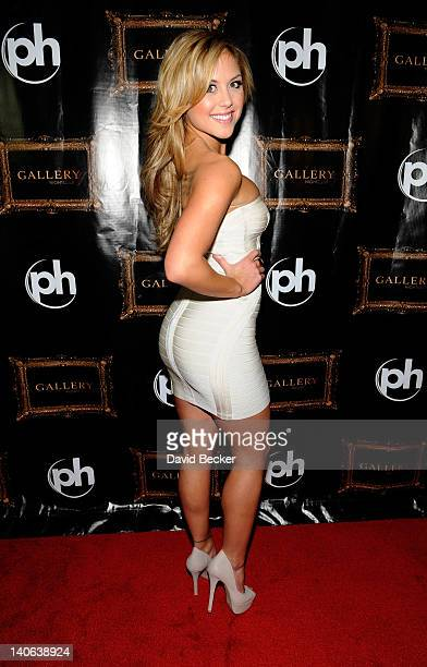 UFC ring girl and model Brittney Palmer arrives at the Paris Las Vegas for an appearance at the Gallery Nightclub at the Planet Hollywood Resort...
