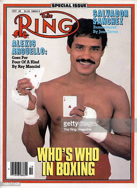 Ring Magazine Cover Alexis Arguello on the cover