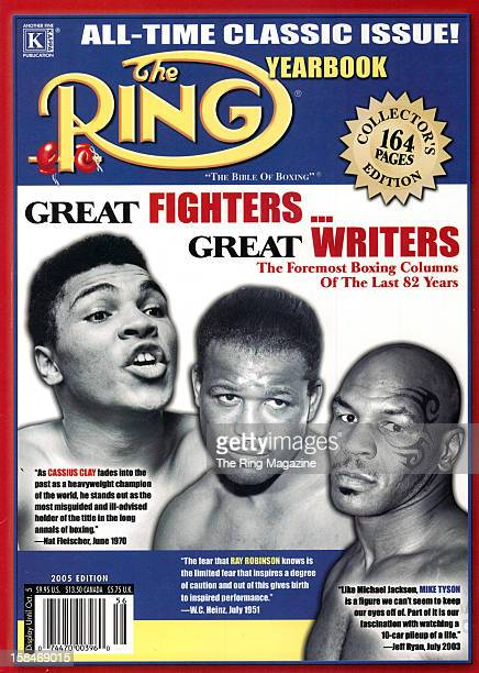 Ring Magazine Cover All Time Classic Issue Yearbook Cassius Clay Ray Robinson and Mike Tyson on the cover