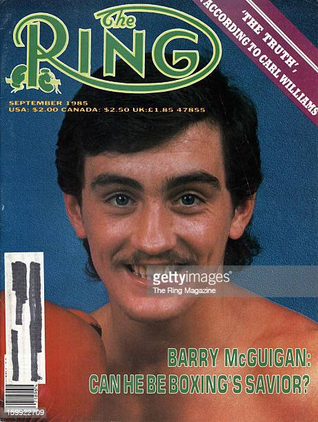 Ring Magazine Cover Barry McGuigan on the cover