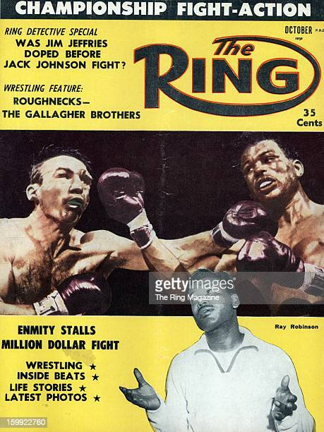 Ring Magazine Cover Carmen Basilio and Ray Robinson on the cover