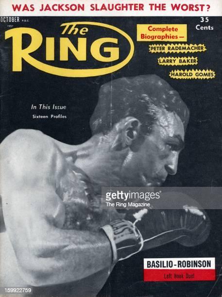 Ring Magazine Cover Carmen Basilio on the cover