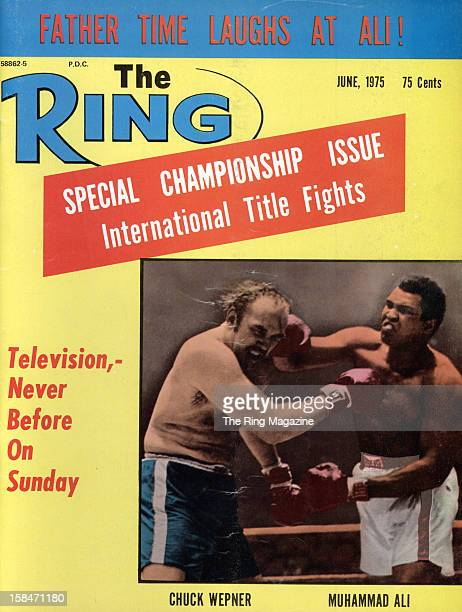 Ring Magazine Cover - Chuck Wepner and Muhammad Ali on the cover.