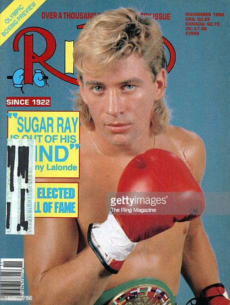 Ring Magazine Cover - Donny Lalonde on the cover.