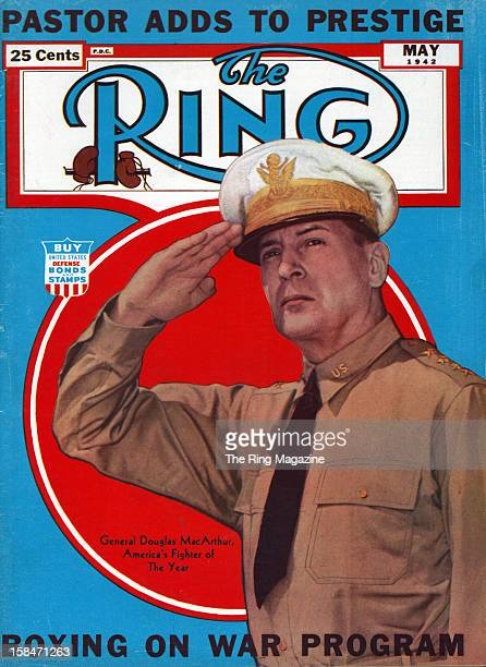 Ring Magazine Cover Douglas MacArthur on the cover