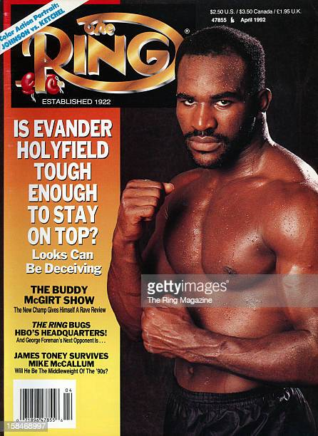 Ring Magazine Cover Evander Holyfield on the cover