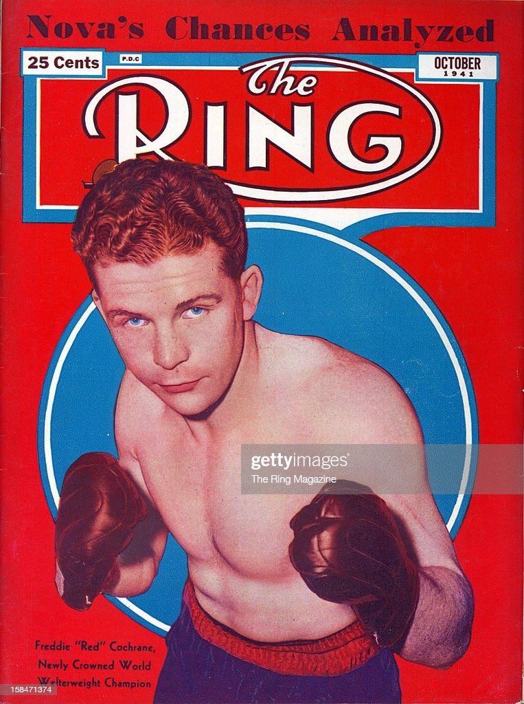 Ring Magazine Cover - Freddie 'Red' Cochrane... : News Photo