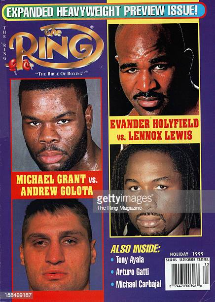 Ring Magazine Cover Heavyweight Preview Michael Grant and Andrew Golota and Evander Holyfield and Lennox Lewis on the cover