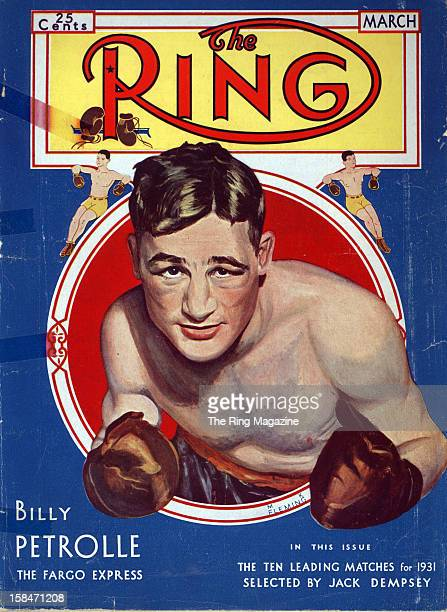 Ring Magazine Cover Illustration of Billy Petrolle on the cover