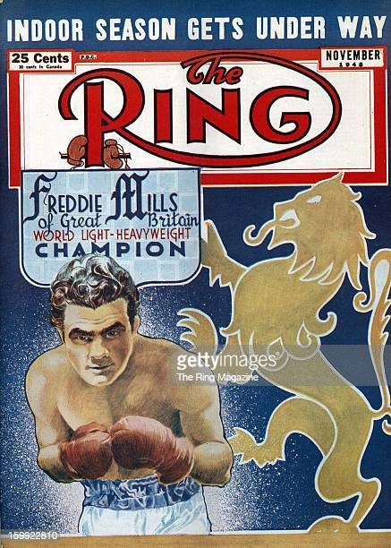 Ring Magazine Cover Illustration of Freddie Mills on the cover