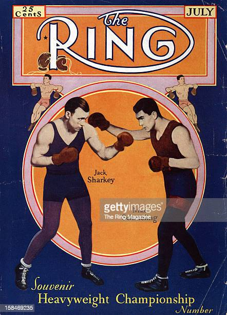Ring Magazine Cover Illustration of Jack Sharkey and Max Schmeling on the cover