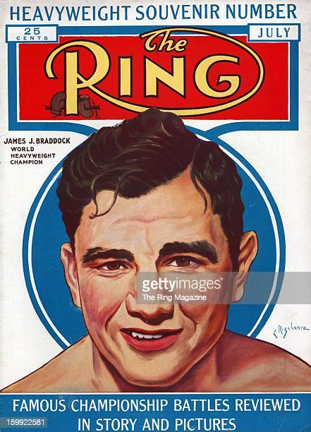 Ring Magazine Cover Illustration of James J Braddock on the cover