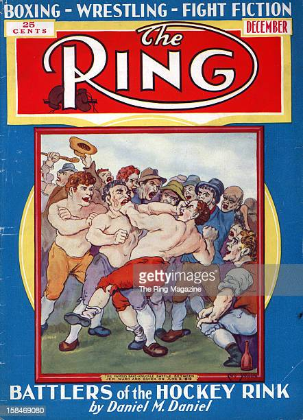 Ring Magazine Cover Illustration of Jem Ward on the cover