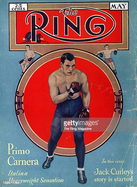 Ring Magazine Cover Illustration of Primo Carnera on the cover