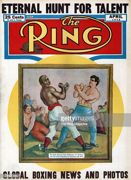 Ring Magazine Cover Illustration of Tom Molineaux and Tom Cribb on the cover