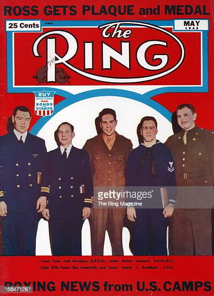 Ring Magazine Cover Jack DempseyBenny LeonardBilly Conn and James Braddock on the cover