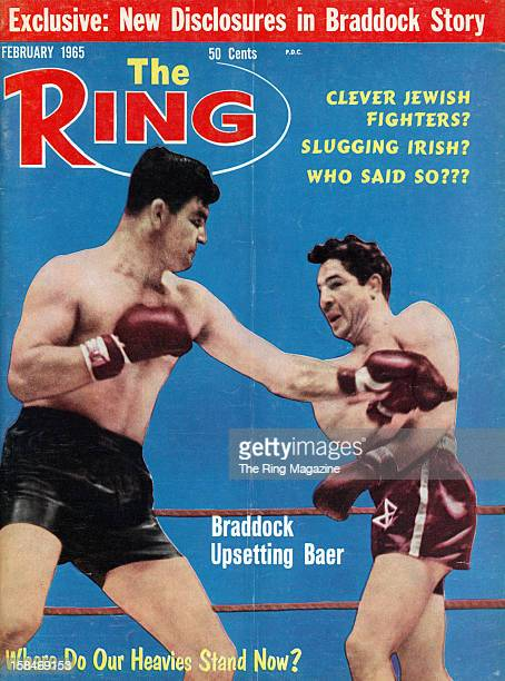 Ring Magazine Cover James Braddock and Max Baer fight on the cover
