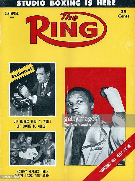 Ring Magazine Cover Jim Norris and Archie Moore on the cover