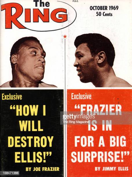 Ring Magazine Cover Joe Frazier and Jimmy Ellison the cover