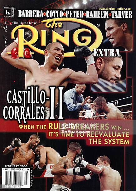 Ring Magazine Cover José Luis Castillo and Diego Corrales fight on the cover