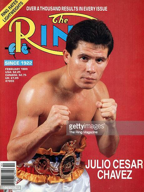 Ring Magazine Cover - Julio Cesar Chavez on the cover.