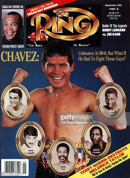 Ring Magazine Cover Julio Cesar Chavez on the cover
