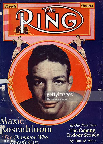 Ring Magazine Cover Maxie Rosenbloom on the cover