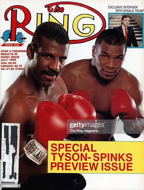 Ring Magazine Cover Michael Spinks and Mike Tyson on the cover