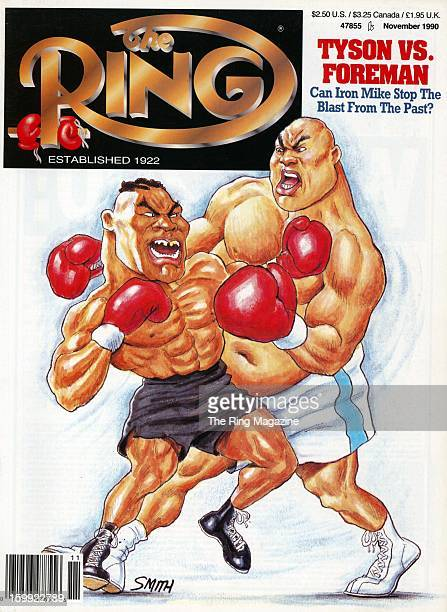 Ring Magazine Cover Mike Tyson and George Foreman on the cover