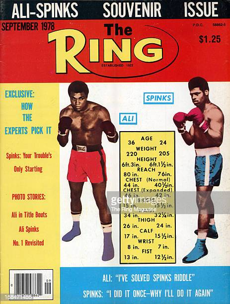 Ring Magazine Cover Muhammad Ali and Leon Spinks on the cover