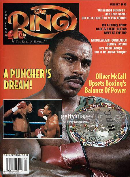 Ring Magazine Cover Oliver McCall on the cover