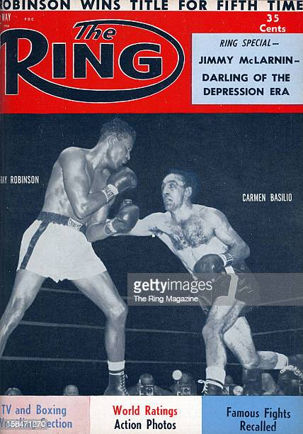 Ring Magazine Cover Ray Robinson and Carmen Basilio on the cover