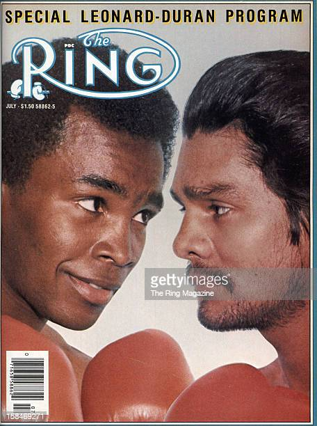 Ring Magazine Cover Sugar Ray Leonard and Roberto Duran on the cover
