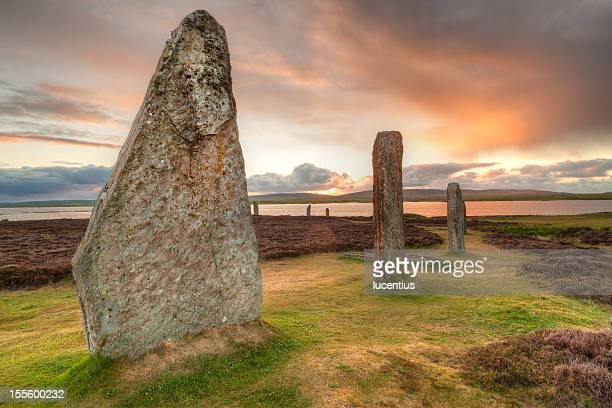 Ring of Brodgar ancient stones, Orkney