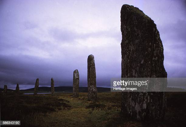 Ring of Brodgar Megalithic Stone Circle c3rd millennium BC Stenness Orkney 20th century A Neolithic henge and stone circle near Stromness in Orkney...