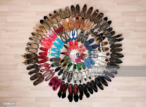 ring of family shoes - abundance stock pictures, royalty-free photos & images